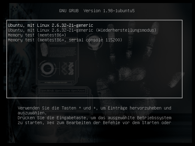 Grub 2 Fingerprint Screenshot