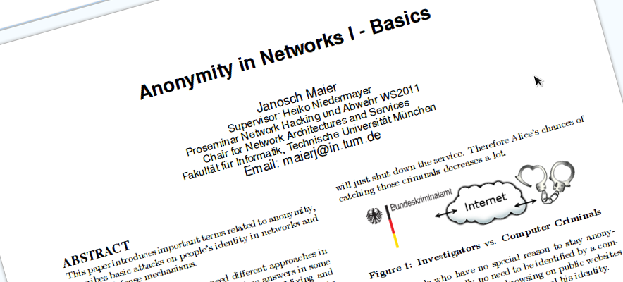 Anonymity in Networks teaser